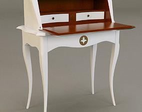 3D grange Pompadour bureau