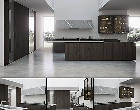 3D model Kitchen Float Rovere
