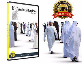 100 Full HD Arab people cutout collection 3D model