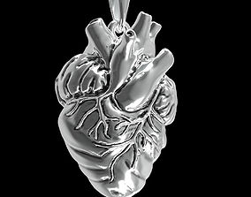 pendant heart platinum 3D printable model