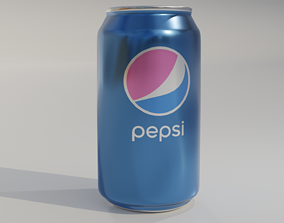 aluminum Pepsi can 3D model