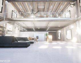 3D model Loft Interior in Unreal Engine