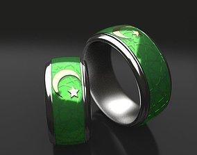 Islamic wedding ring 3D print model