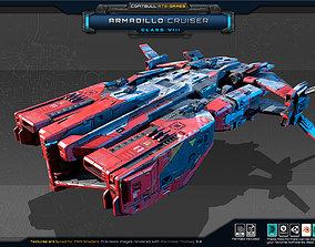 RTS Games - Armadillo Cruiser - Class VIII 3D asset