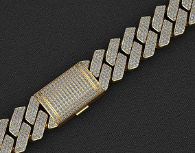 14 MM MIAMI CUBAN LINK CHAIN DIAMOND 3D printable model 4