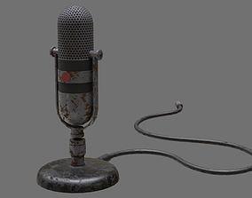 Retro Microphone 1B 3D model
