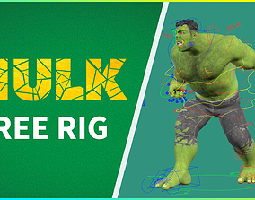 FREE HULK RIG 3D animated
