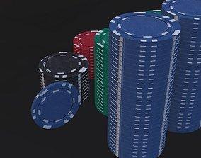 casino 3D model Gaming Chips