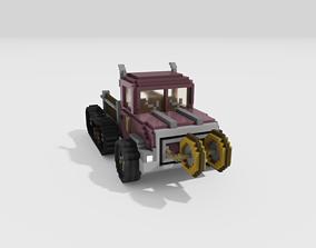 3D model Voxel Car Pickup