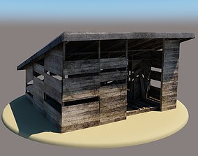 3D model game-ready Barn1