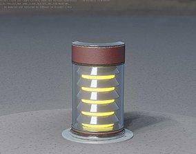 Dark Red Light-Column -3- Street-Light 3D model