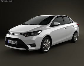 3D model Toyota Vios 2013