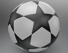3D match Champions League Soccer Ball