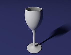 White wine glass 3D printable model