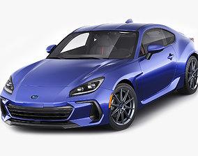 3D model Subaru BRZ 2021 with interior