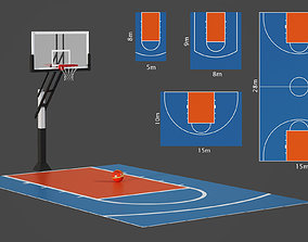 Outdoor basketball hoop 3D model