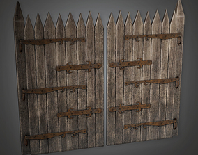 3D asset Outdoor Gate 12 GFS - PBR Game Ready