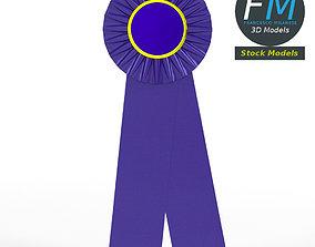 3D model Award ribbon