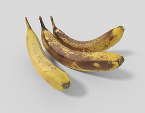 Banana Collection 01 Lowpoly 3D model