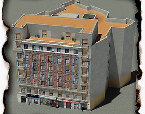 3D asset game-ready architecture Building