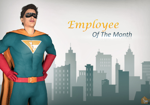Employee of The Month -adverting design