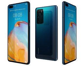 3D Huawei P40 Deep Sea Blue