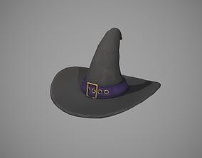 3D asset Witch Hat - Purple Strap