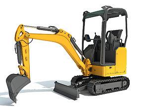 3D Mini Excavator bulldozer
