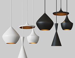 3D Beat Light chandelier Set Tom Dixon Loft-Concept Black