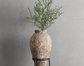 Antique Vessel And Olive Branch 3D