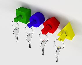 Keychain model for 3D printing