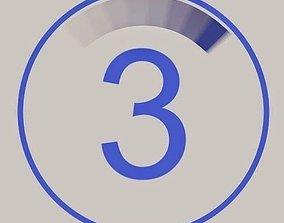 3D model Video countdown 5 4 3 2 1