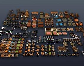 realtime 3DRT - Lowpoly Fantasy props bundle