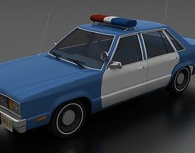 Fairmont 4dr sedan 1978 Police Car unmarked 3D asset