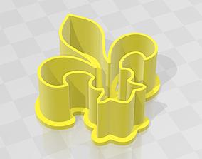 Fleur de lis - Flor de lis - cookie cutter 3D print model
