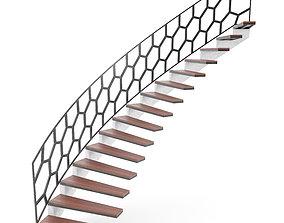 railing 3D Spiral staircase