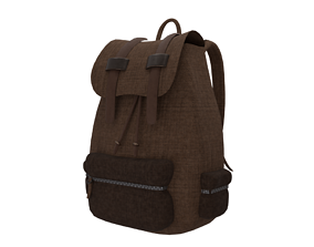 3d model of a backpack realtime