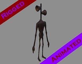 Siren Head 3D asset animated
