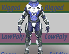 3D model Rigged LowPoly Sci Fi Space man Soldier