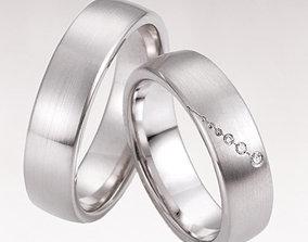 Wedding rings 223 3D printable model