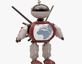3D asset Robot 003 NOT RIGGED