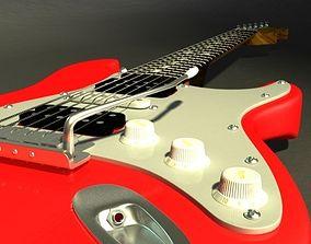3D model guitar Fender Stratocaster