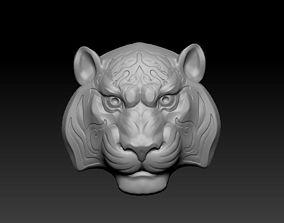 Pendant of tiger head 3D printable model