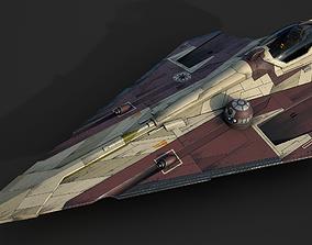 3D model Star Wars Jedi Starfighter - Obi Wan Kenobi