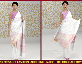 material 2 Fashion Drapes for Saree - 3D Model