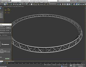 3D printable model Circle Triangular Truss Full diameter