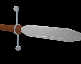 3D model falchion Dagger voxel 1
