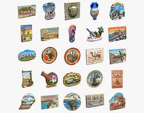 3D model Souvenir Magnets Collection