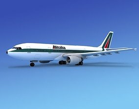3D model Airbus A300 Alitalia