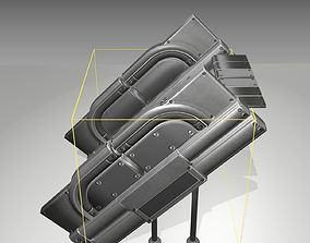 3D model Futuristic Stairs - 24 - Basic Textures